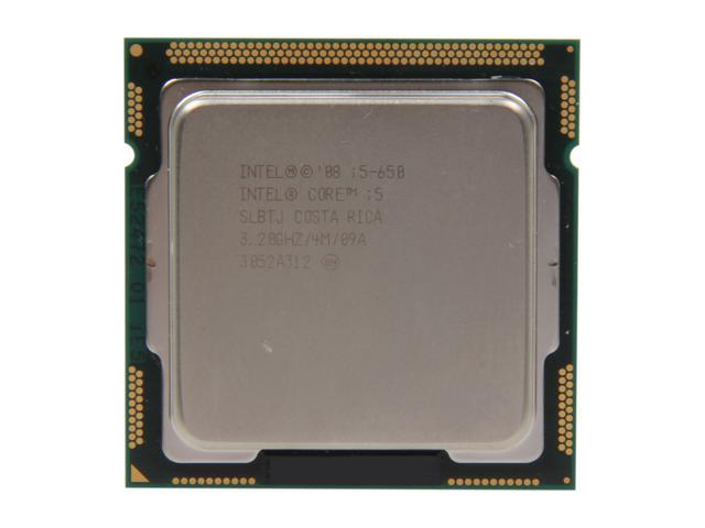 Intel Core i5-650 Clarkdale Dual-Core 3.2GHz (3.46GHz Turbo Frequency) LGA 1156 73W SLBTJ  Desktop Processor Intel HD Graphics