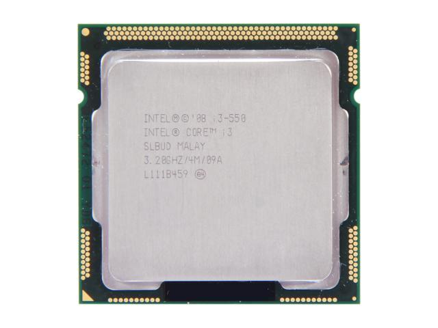 Intel Core i3-550 Clarkdale Dual-Core 3.2 GHz LGA 1156 73W SLBUD Desktop Processor Intel HD Graphics