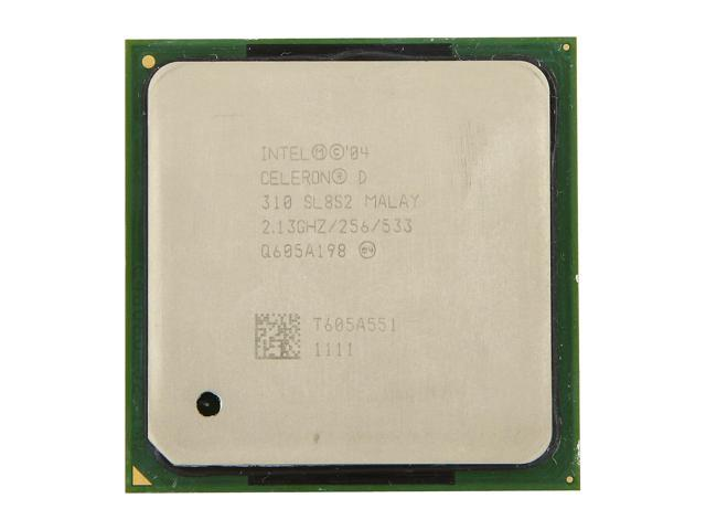 Intel Celeron D 310 Prescott Single-Core 2.13 GHz Socket 478 SL8S2 Desktop Processor