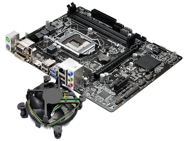 ASRock H81M-HDS MB and Intel Core i7-4790 3.6GHz  Combo Fan Cooling