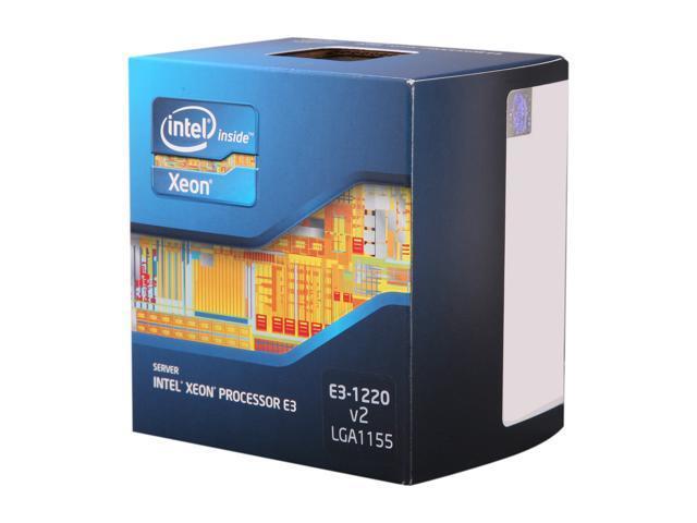 Intel Xeon E3-1220 V2 3.1GHz (3.5GHz Turbo) LGA 1155 69W BX80637E31220V2 Server Processor