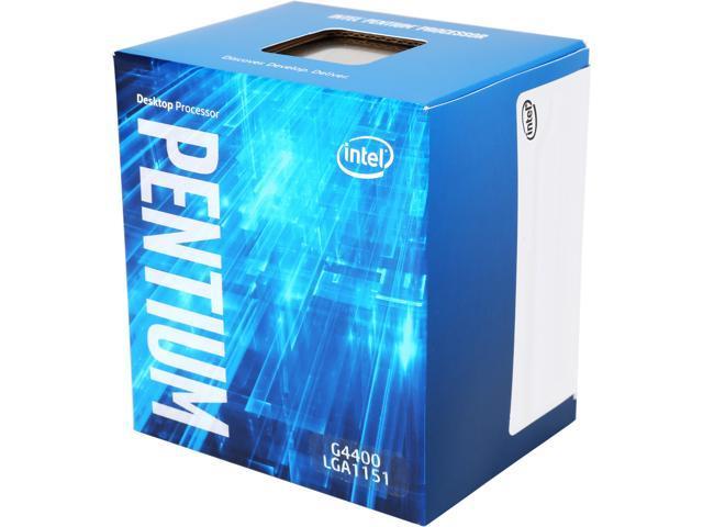 Intel Pentium G4400 Skylake Dual-Core 3.3 GHz LGA 1151 65W BX80662G4400 Desktop Processor Intel HD Graphics 510