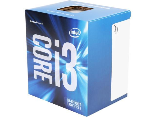 Intel Core i3-6100T Skylake Dual-Core 3.2 GHz LGA 1151 35W BX80662I36100T Desktop Processor Intel HD Graphics 530