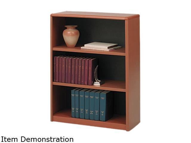Value Mate Series Metal Bookcase Three-Shelf 31-3/4w x 13-1/2d x 41h Cherry