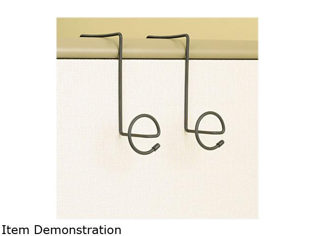 Safco 4184CH Panelmate Wire Coat Hooks with Plastic Ends, 7 x 7 1/4, Charcoal, 2/Pack