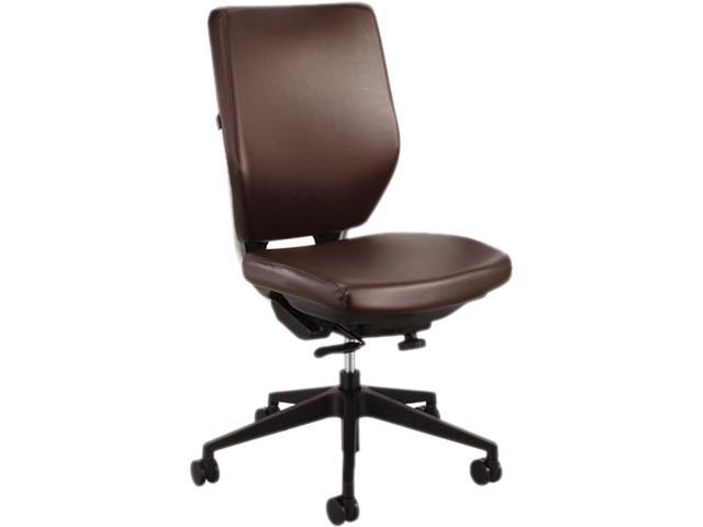 Safco Sol Task Chairs Vinyl Brown Seat - Steel Frame - 25