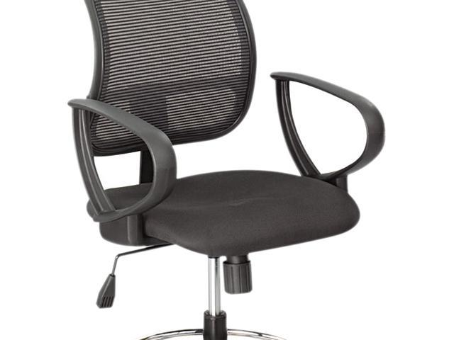Safco Vue Extended Height Mesh Chair Loop Arms Black - 2 / Set