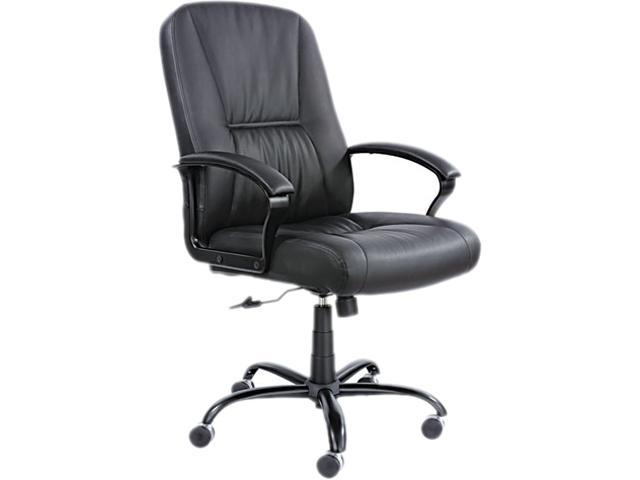 Serenity Big & Tall Leather Series High-Back Chair, Black Leather