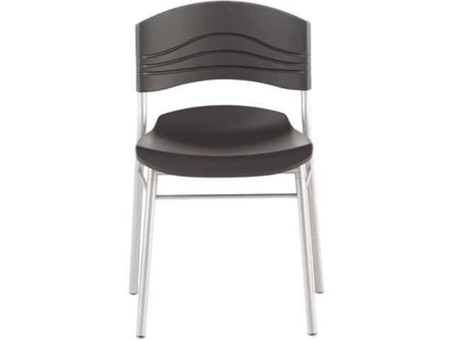 CaféWorks Chair Blow Molded Polyethylene Graphite/Silver 2/Carton