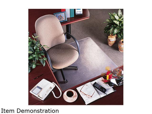 "Rollamat Vinyl Chair Mat For Med Pile Carpet, Beveled Edge, 36 X 48"","