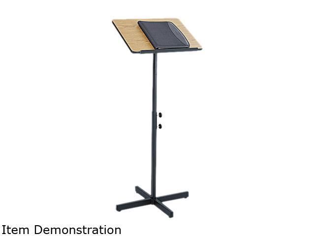 "Safco 8921MO Adjustable Speaker Stand 21""w x 21""d x 29 1/2"" to 46""h Medium Oak - OEM"