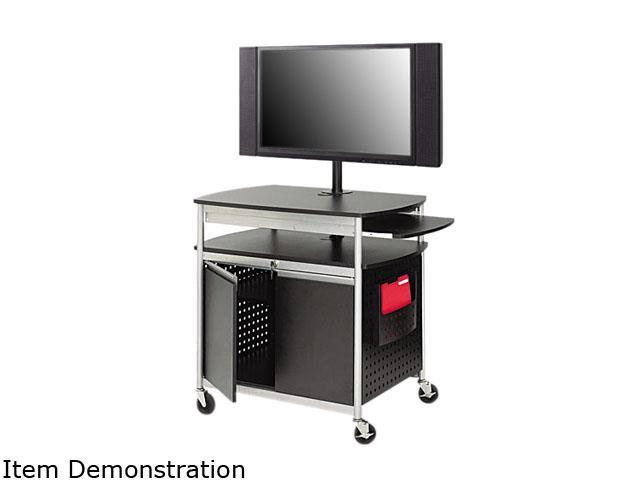 Safco 8941BL Scoot Flat Panel Multimedia Cart, 3-Shelf, 39-1/2w x 27d x 38-1/4h, Black