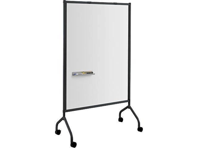 Impromptu Magnetic Whiteboard Collaboration Screen 42w x 21 1/2d x 72h Black