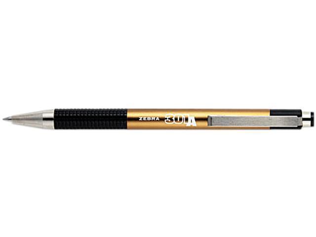 Zebra Pen - Ballpoint Pen, Retractable, .7mm, Fine Pt, GD Barrel/BK Ink, Sold as 1 Each, ZEB 27540