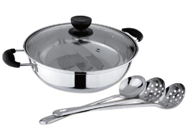 Tayama TG-28C Shabu Hot Pot with Divider and 3 Ladle spoons