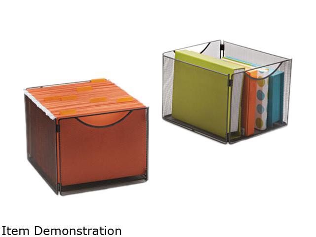 Onyx Mesh Cube Bins, 12-1/2W X 14D X 10H, Black, 2/Pack