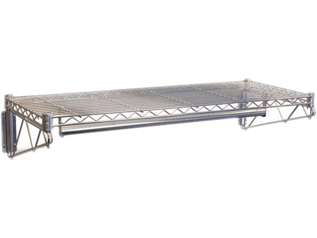 Steel Wire Wall Shelf Rack, 48w x 18-1/2d x 7-1/2h, Silver