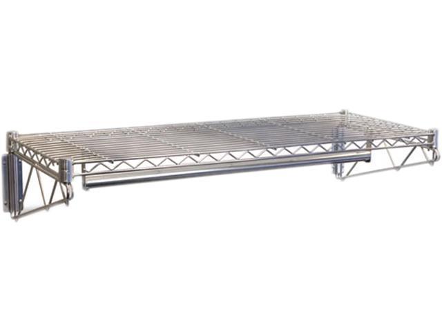 Steel Wire Wall Shelf Rack, 36w x 18-1/2d x 7-1/2h, Silver