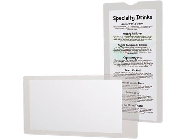 Tops Pendaflex 65049 Utili-Jacs Heavy-Duty Clear Plastic Envelopes, 4 x 9, 50-Box