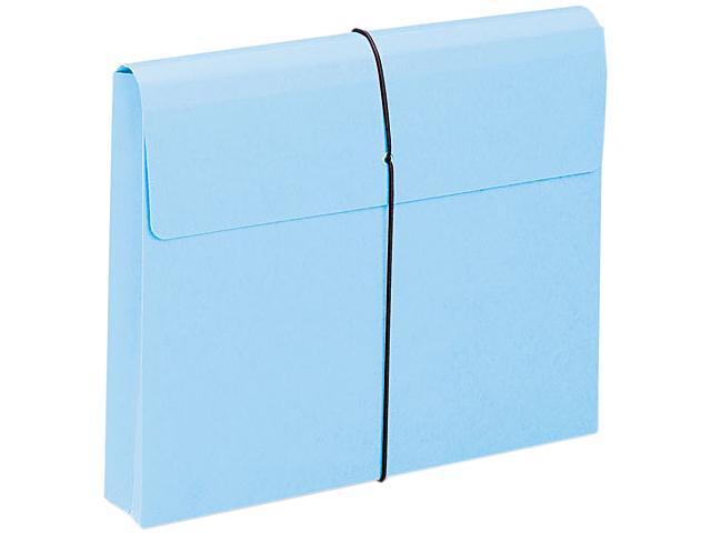 Smead 77203 Blue Expanding Wallets with Elastic Cord - 8.50