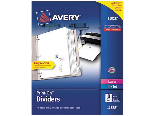 Customizable Print-On Dividers 8-Tab Letter