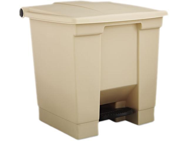 Rubbermaid RCP 6143 BEI Fire-Safe Plastic 8 Gallon Step-On Receptacle- Beige