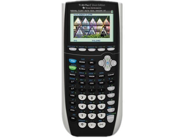 Texas Instruments TI84PLUSCSE C Silver Edition Programmable Color Graphing Calculator, 10-Digit LCD