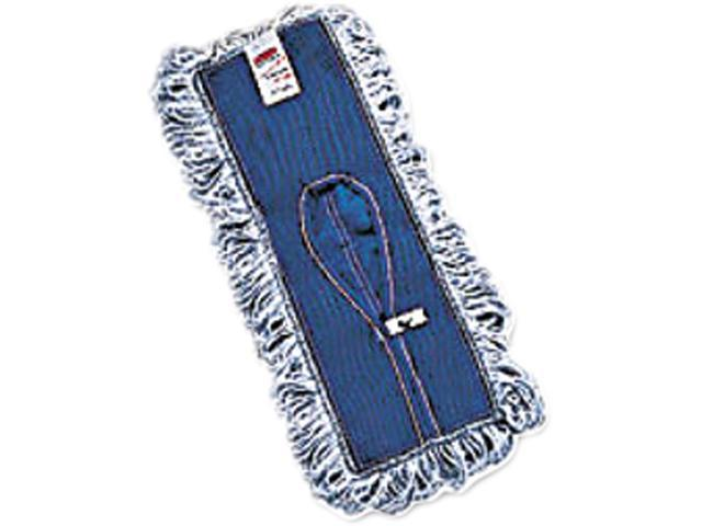 Rubbermaid Commercial Products RCP E052 18 Inch Loop Fringe Finish Mop - White/Blue