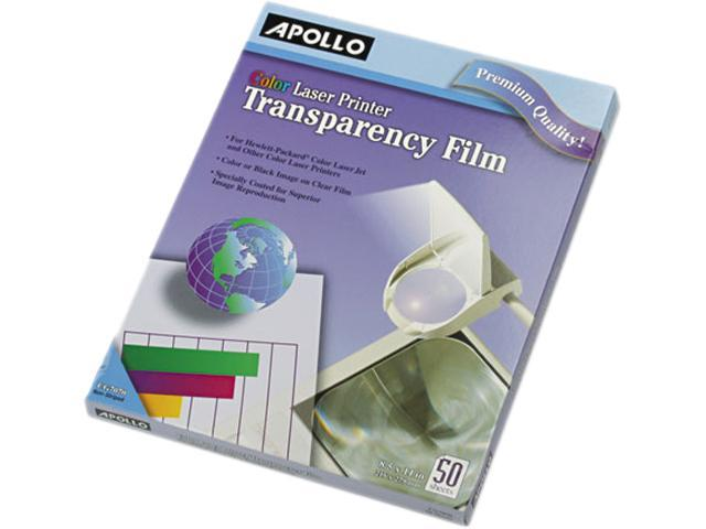 Color Laser Printer/Copier Transparency Film, Letter, Clear, 50/Box
