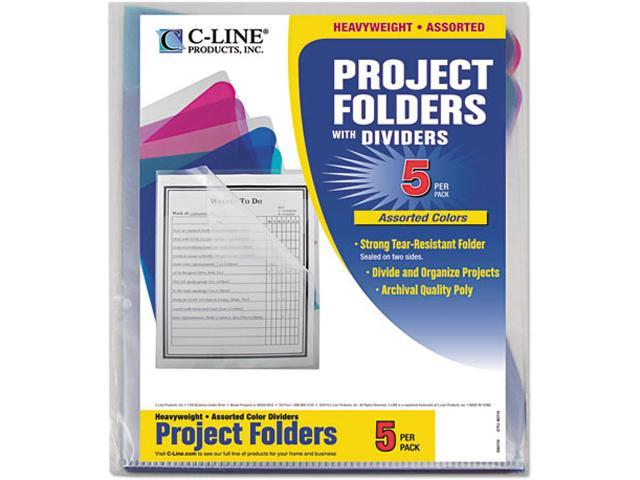 C-line Assorted Color Multi-Section Project Folders