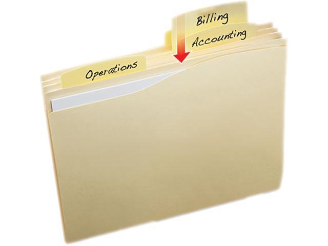 Slide & Lift Tab File Folder, Letter, 1/3 Cut Tab, Manila, 24/Pack