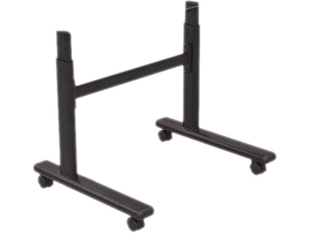 Height-Adjustable Flipper Table Base, 48W X 24D X 28-1/2 To 45H, Black