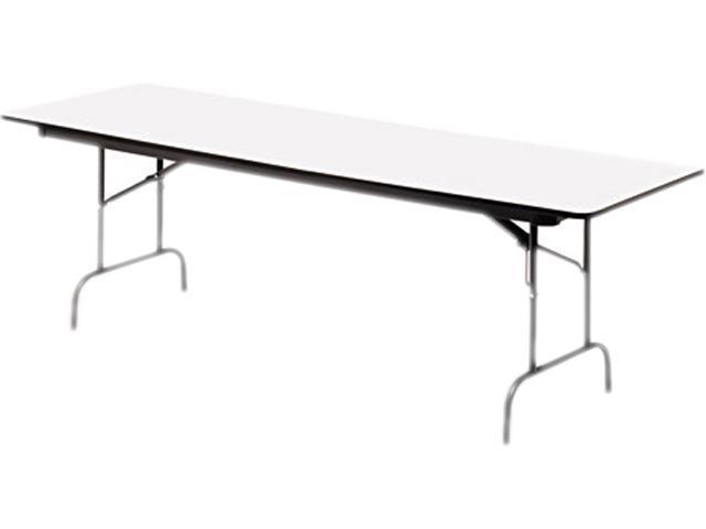 Premium Wood Laminate Folding Table, Rectangular, 72W X 30D X 29H, Gra
