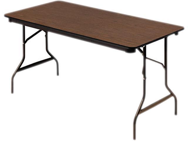 Economy Wood Laminate Folding Table, Rectangular, 60W X 30D X 29H, Wal