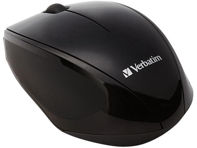 Verbatim Wireless Multi-Trac Blue LED Optical Mouse - Black