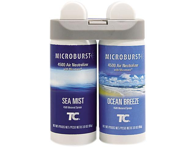 Rubbermaid Commercial 3485951 Microburst Duet Ocean Breeze Fragrance with Sea Mist