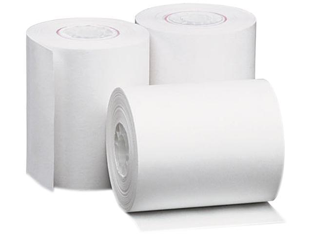 "Single-Ply Thermal Paper Rolls, 2-1/4"" X 80 Ft, White, 50/Carton"