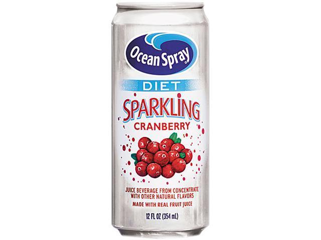 Diet Sparkling Cranberry Juice, 12Oz Can, 12/Carton - Newegg.com