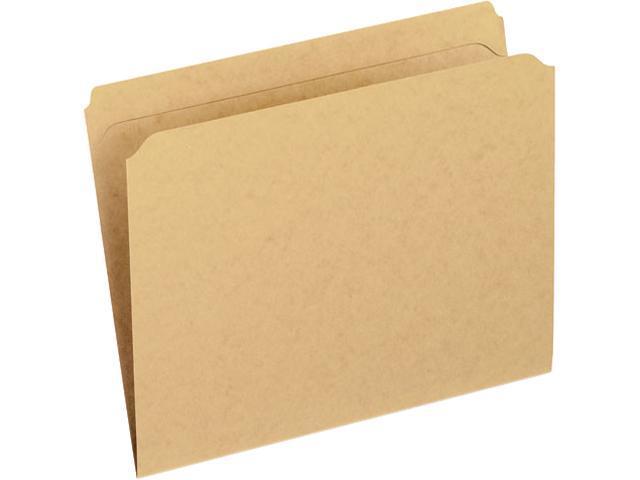 Pendaflex Two-Ply Dark Kraft File Folders, Straight Cut, Top Tab, Letter, Brown, 100/Box