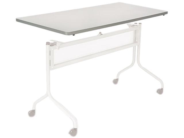 "Safco 2066GR Impromptu Mobile Training Table Top Rectangle - 60"" x 24"" - Particleboard, Vinyl - Gray Top"