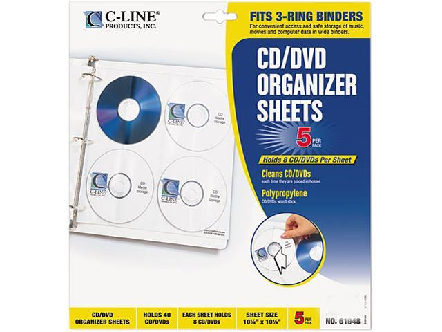 C-Line 61948 CD/DVD Ring Binder Kit