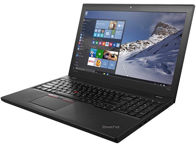 ThinkPad Bilingual Laptop T Series T560 (20FH001TCA) Intel Core i7 6600U (2.60 GHz) 8 GB Memory 256 GB SSD Intel HD Graphics 520 15.6