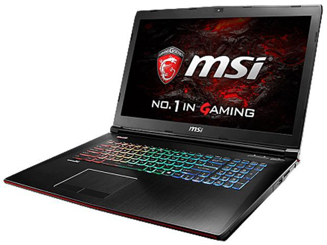 MSI GE72VR 6RF-005CA Apache Pro Laptop Intel Core i7 6700HQ (2.60 GHz) 16 GB Memory 1 TB HDD 256 GB SSD NVIDIA GeForce GTX 1060 17.3
