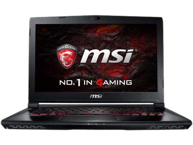 MSI GS43VR 6RE-011CA Phantom Pro Laptop Intel Core i7-6700HQ 2.6 GHz 16 GB DDR4 256 GB SSD NVIDIA GeForce GTX 1060 14