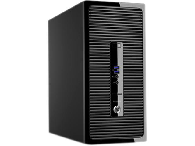 HP Desktop Computer ProDesk 400 G3 (P0D98UT#ABA) Intel Core i3 6100 (3.70 GHz) 4 GB DDR4 500 GB HDD Intel HD Graphics 530 Windows 7 Professional 64-Bit (available through downgrade rights from Windows