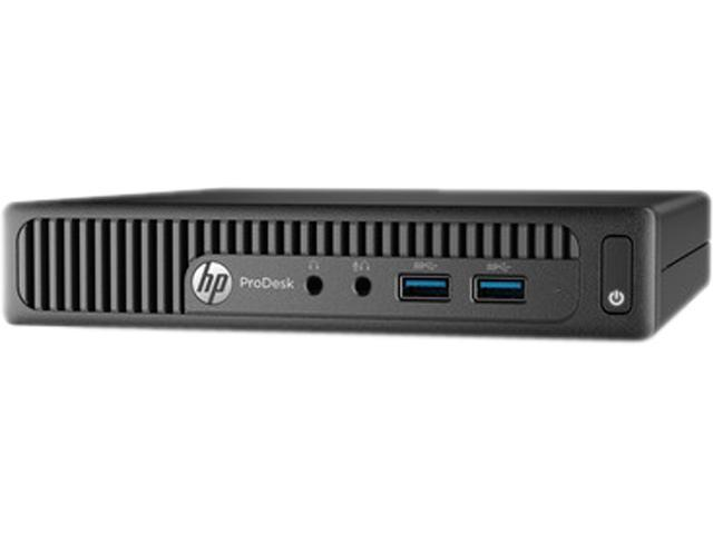 HP Desktop PC ProDesk 400 G2 (P5U78UT#ABA) Pentium G4400T (2.9 GHz) 4 GB DDR4 500 GB HDD Intel HD Graphics 510 Windows 7 Professional 64-Bit (available through downgrade rights from Windows 10 Pro)