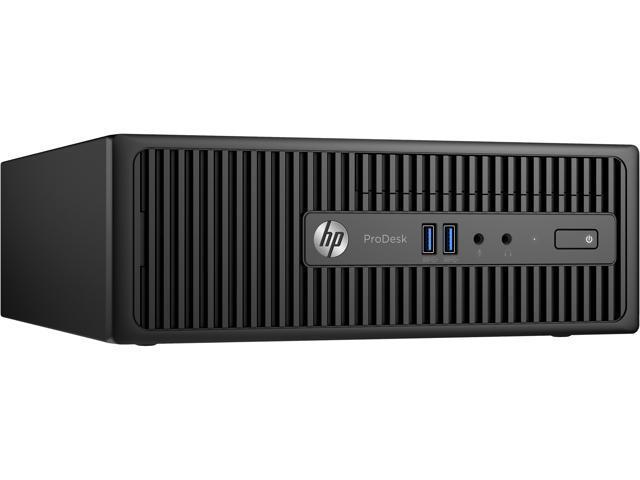 HP ProDesk 400 G3 (T4L80UT#ABC) Desktop PC (French) Intel Core i3 6th Gen 6100 (3.70 GHz) 4 GB DDR4 500 GB HDD Intel HD Graphics 530 Windows 7 Professional 64-Bit (Windows 10 Pro downgrade)