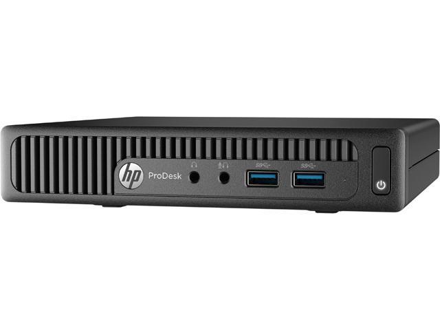 HP Desktop Computer ProDesk 400 G2 (P5U79UT#ABC) Intel Core i3 6th Gen 6100T (3.20 GHz) 4 GB DDR4 500 GB HDD Intel HD Graphics 530 Windows 7 Professional 64-Bit / Windows 10 Pro Downgrade (French)