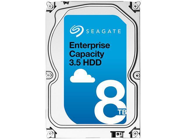 Seagate Enterprise Capacity 3.5'' HDD 8TB 7200 RPM 512e SAS 12Gb/s 256MB Cache Internal Hard Drive ST8000NM0075