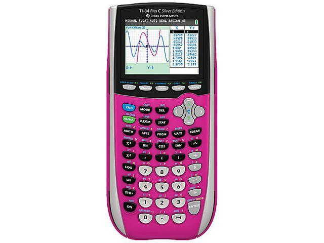Texas Instruments - TI-84 Plus C Silver Edition  -  8 Line(s) - 16 bit color  - (Pink)